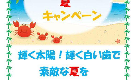 """ホワイトニング2019""""夏""""キャンペーンのご案内"""